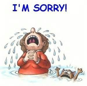 I really am sorry..