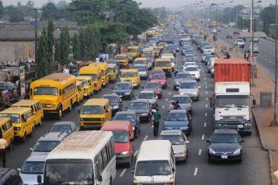 PIC. 5. TRAFFIC GRIDLOCK ON AGEGE ROAD IN LAGOS ON TUESDAY (12/2/13)